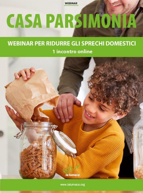 Webinar Casa parsimonia - Ridurre gli sprechi domestici